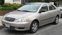 WANTED DAMAGED  2003 Toyota Corolla ce Sedan BAD ENGINE TRANNY