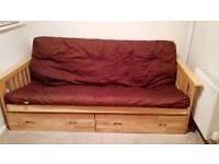 Wooden Futon/ Sofa Bed