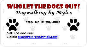 Dog Walking by Myles - Services For NW / SW