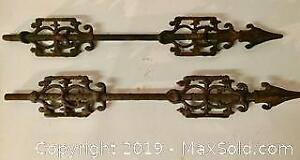 Pair of Antique Architectural Fence Pieces