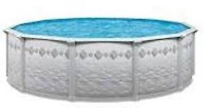 SWIMMING POOL for sale- above ground 24' round pool, new!
