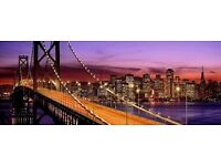 Very large modern canvas of San- Fransisco bridge in black and white £20