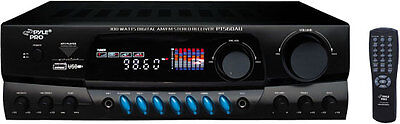 NEW PYLE PT560AU 300 WATTS HOME THEATER AM/FM RECEIVER MP3 PLAYER, AMPLIFIER
