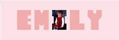 Word Baby Names (Baby Name Emily Personalized Photo Word Picture)