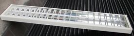 Good Quality UK made Fitzgerald Lighting Twin Fluorescent fitting with 6' tubes Used in Office Only