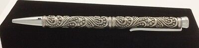 Paisley Pewter Ink Writing Pen Paisley Design Pewter One of a Kind