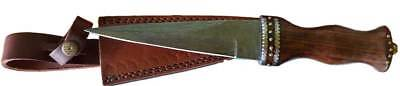 Rosewood Damascus Steel Athame Knife Dagger Ritual Ceremony Magic