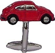 Pair RED VW Beetle Bug Cufflink Gift for Collector BNIB