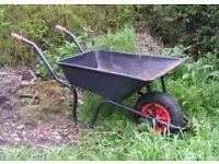 USED BUT GOOD CONDITION WHEELBARROW. ONLY USED ONCE FOR SOIL.