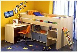 Dreams Boys Midsleeper with desk - Jack