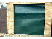 Electric Roller Garage Door Pale Green RAL 6021 BRAND NEW NEVER USED