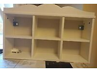 Ikea white wall shelves