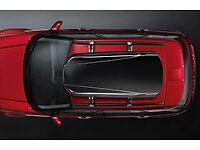 Range Rover Evoque Cross Bars (VPLVR0073) c/w Land Rover Roof Box (VPLVR0062)