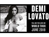DEMI LOVATO London O2 Tickets x3 10th June 2018