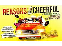 Two tickets for Reasons To Be Cheerful at Stratford East Theatre