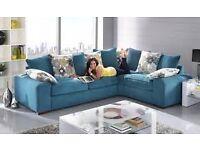 Large 5 Seater Corner Sofa in Teal £100.00