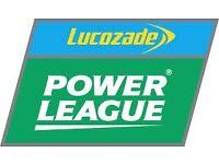 5 a side or 7 a side people needed to make a team. Hanworth/Sunbury PowerLeague