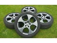 vw monza alloys 18 inch anthracite 5x100 5 x 100 beetle rover tt a3 audi mg