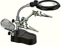 LED Magnifier With Clamps & Soldering Stand
