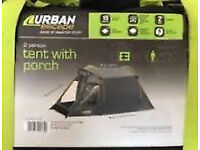 Wanted urban escape 2 man tent in gray