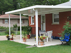 12 X 24 Wall Attached Flat Pan Steel 24 Gauge Patio Cover Kit