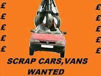 SCRAP CARS WANTED!!!!!