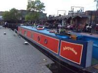 Narrowboat with Secure London Mooring