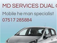 He man dual controls mobile supply and fitting