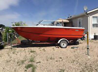 REDUCED!  1978 Sangster Craft 19 foot boat and trailer