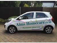 AIMS HOMECARE NOW RECRUITING! Looking for female drivers. Great rates of pay & company car provided!