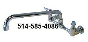 Commercial Wall Mount Faucets Available. Brand New In The Box. Robinet Commercial! Neuf!! LIQUIDATION DENTREPOT!!
