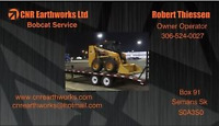 CNR Earthworks ltd Bobcat Service