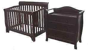 Jeremie Convertible Crib w/ Changing Table COMBO (Java)