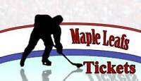 Leafs Tickets - Oct. 31 and Hockey Hall of Fame