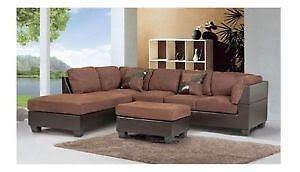 SALE SALE WAREHOUSE SALE... 1011 EVA SECTIONAL WITH FREE STORAGE OTTOMAN ON SALE