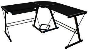 Black L Shaped Gl Desk