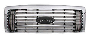 NEW 2009-2014 FORD F-150 CHROME 6 BAR GRILLE