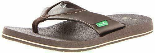 NEW Sanuk Men's Brown Beer Cozy Thong Flip-Flop Beach Sandal