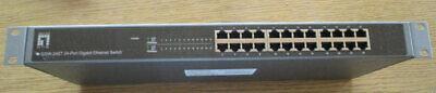 ✅LevelOne GSW-2457 24-Port Gigabit Switch, 10/100/1000Mbps, 19 Zoll *Gebraucht*