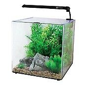 FISH TANK + EXTRAS: 22L AquaOne including thermometer, food, decorations, filter, heater, light