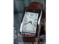 EMPORIO ARMANI MENS WATCH SNAKESKIN EFFECT LEATHER (also have Rolex, Breitling,Omega Chanel, MK)