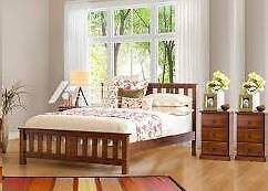 solid wooden queen bed frame +2 Bedside tables Campsie Canterbury Area Preview