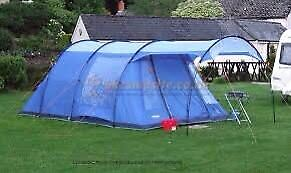 Vango Calder 500 family tent with extra porch, carpet and groundsheet. LIKE NEW!
