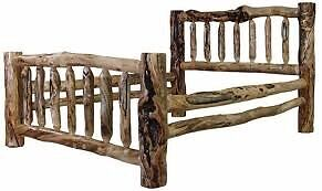 Log beds, tables and benches