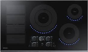 36 in. Induction Cooktop with Fingerprint Resistant Black Stainless Trim with 5 Elements and Flex Zone Element (SAM1065)