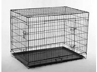 x large dog cage 42 long 28 wide folds down flat to fit in your car good condition