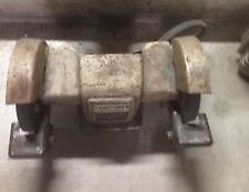 Antique Cast Belt Driven Bench Grinder