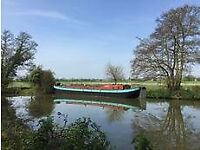 Large Dutch barge on a beautiful Medway mooring