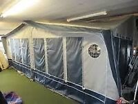 Awning Isabella Mistral, A Size, Frame 14-16, with zip on end bedroom.