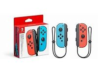 Nintendo Switch Neon Joycon Controllers Blue and Red. New Sealed